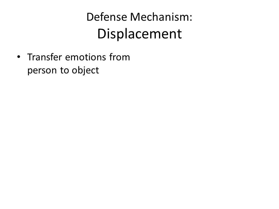 Defense Mechanism: Displacement