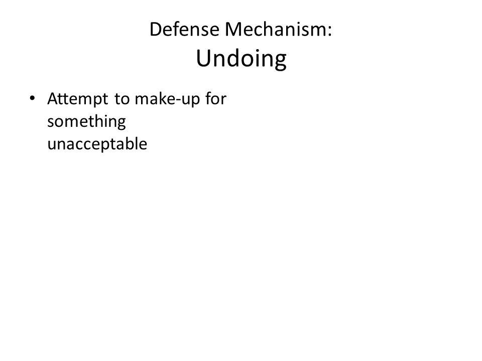Defense Mechanism: Undoing