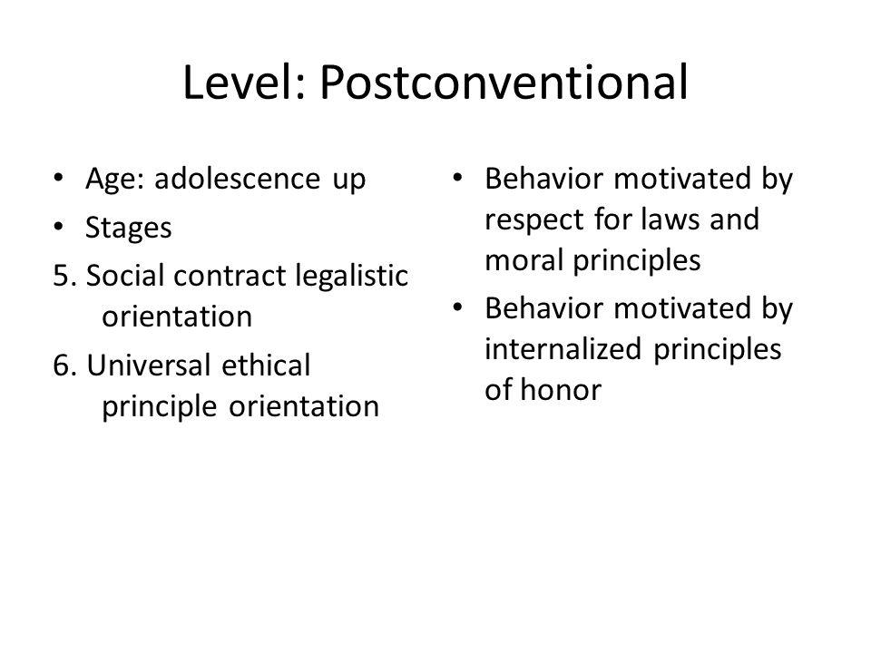 Level: Postconventional