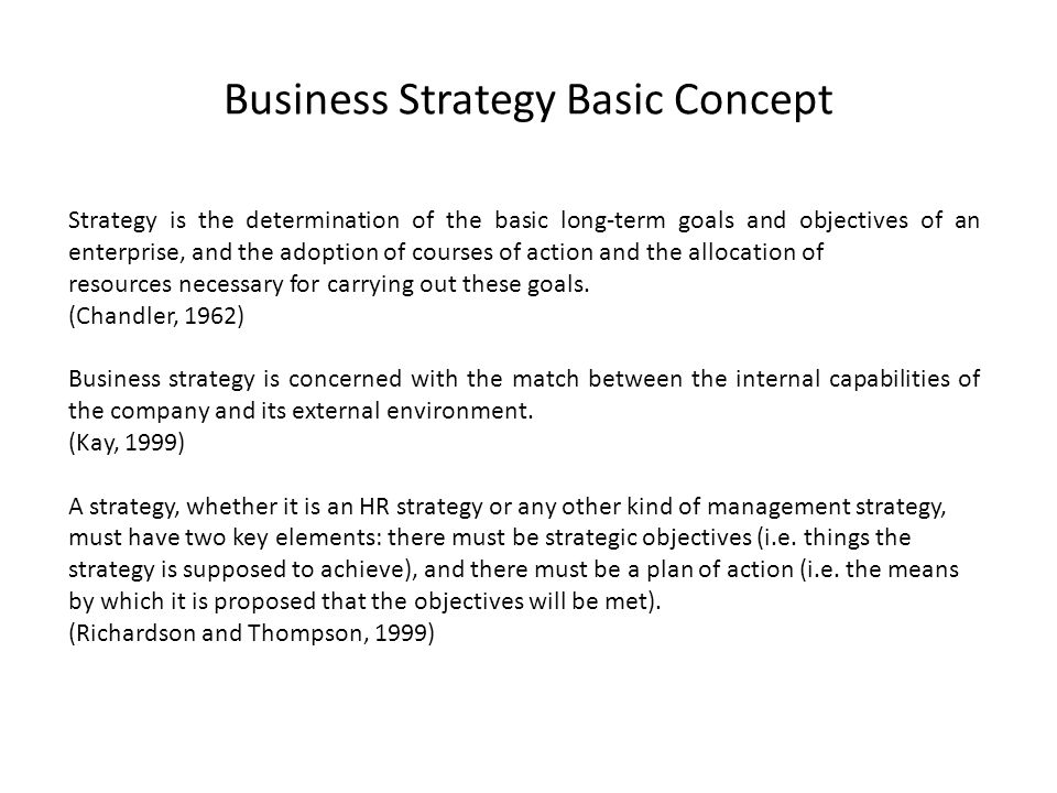 Business Strategy Basic Concept