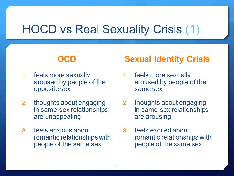 HOCD vs Real Sexuality Crisis (1)
