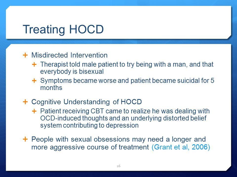 Treating HOCD Misdirected Intervention Cognitive Understanding of HOCD