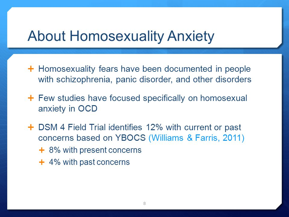 About Homosexuality Anxiety