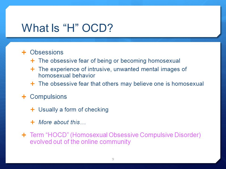 What Is H OCD Obsessions Compulsions