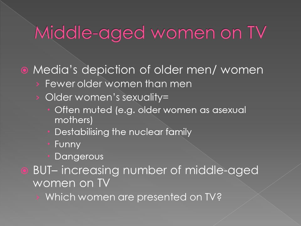 Middle-aged women on TV