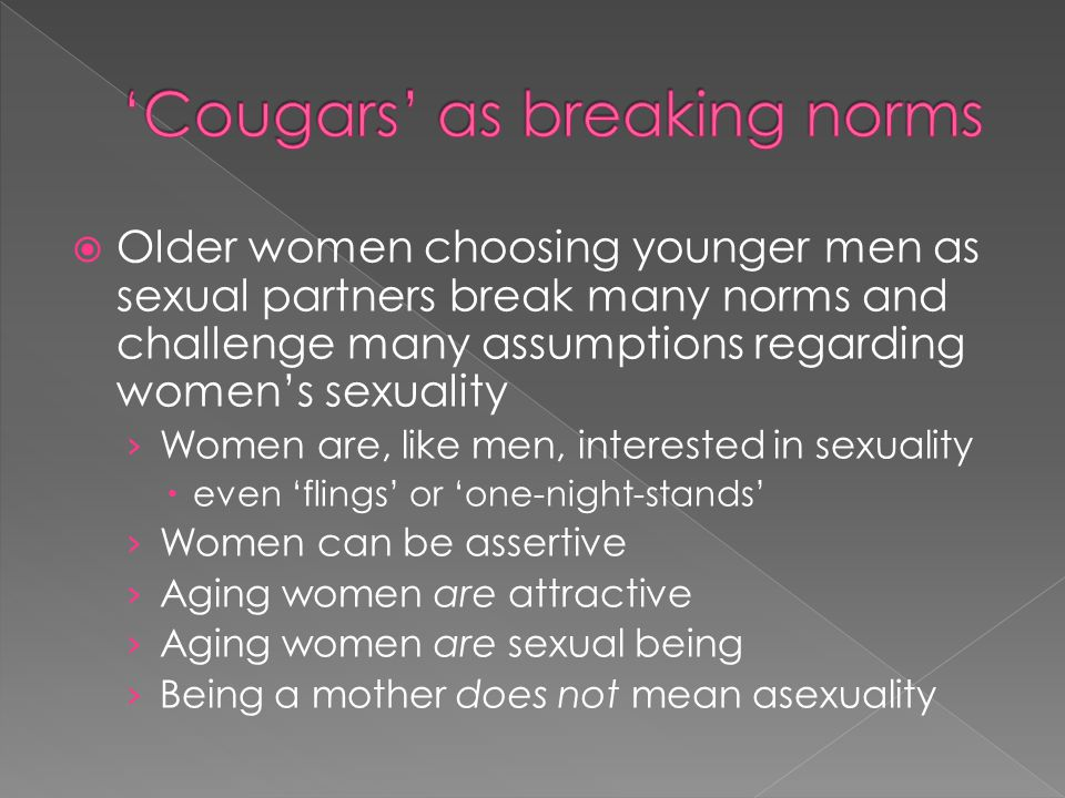 'Cougars' as breaking norms