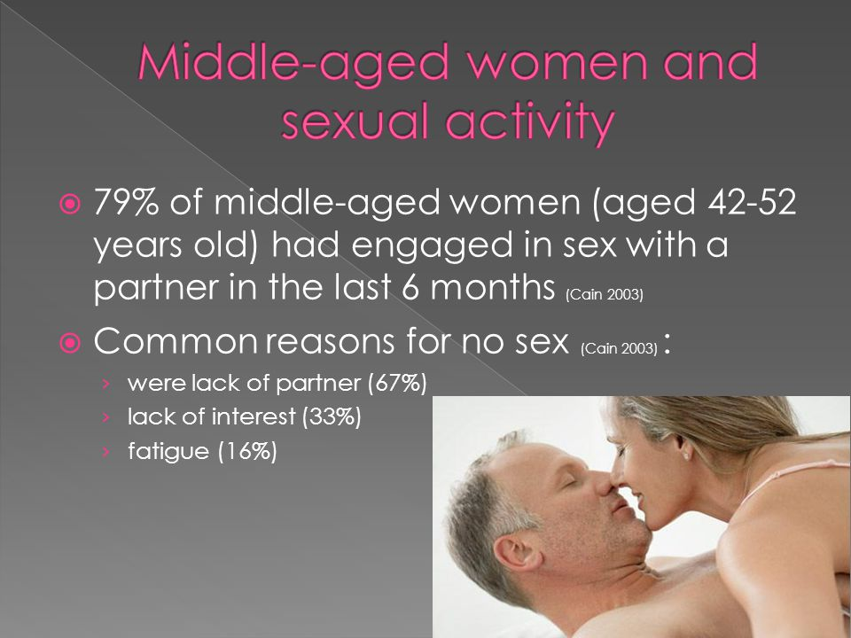 Middle-aged women and sexual activity
