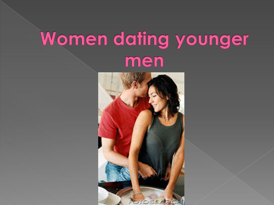 Women dating younger men