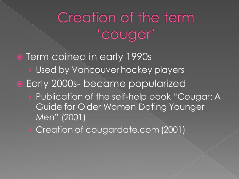 Creation of the term 'cougar'