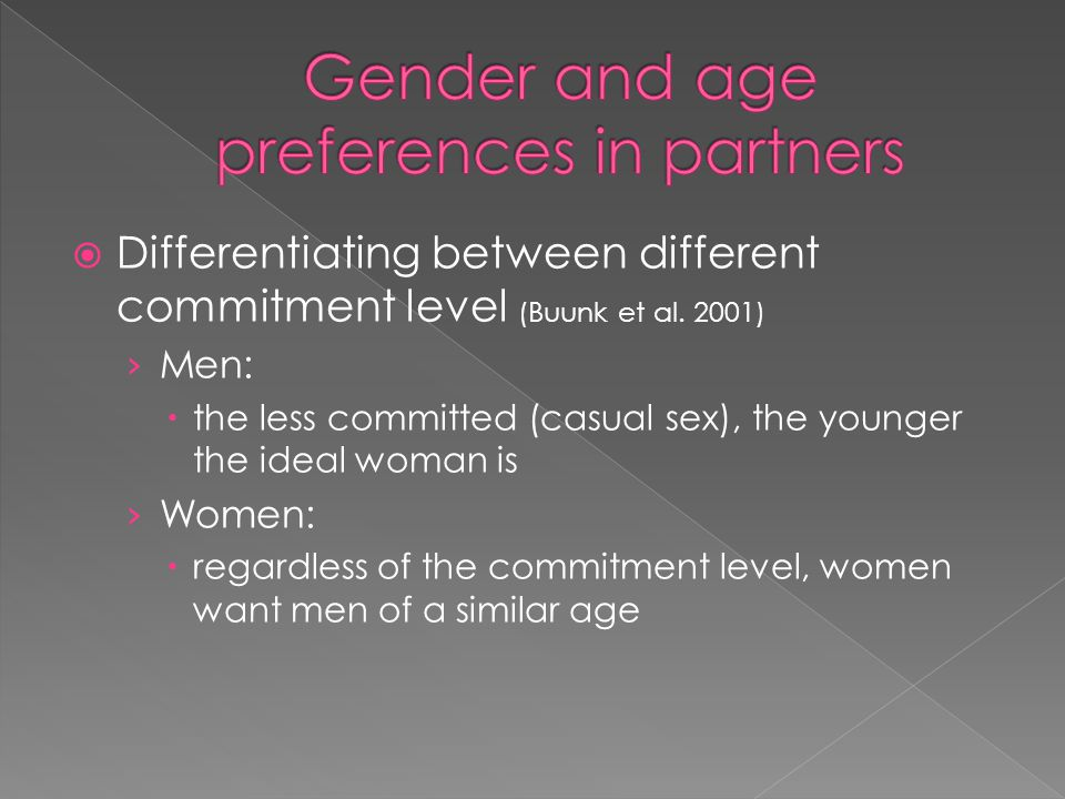 Gender and age preferences in partners