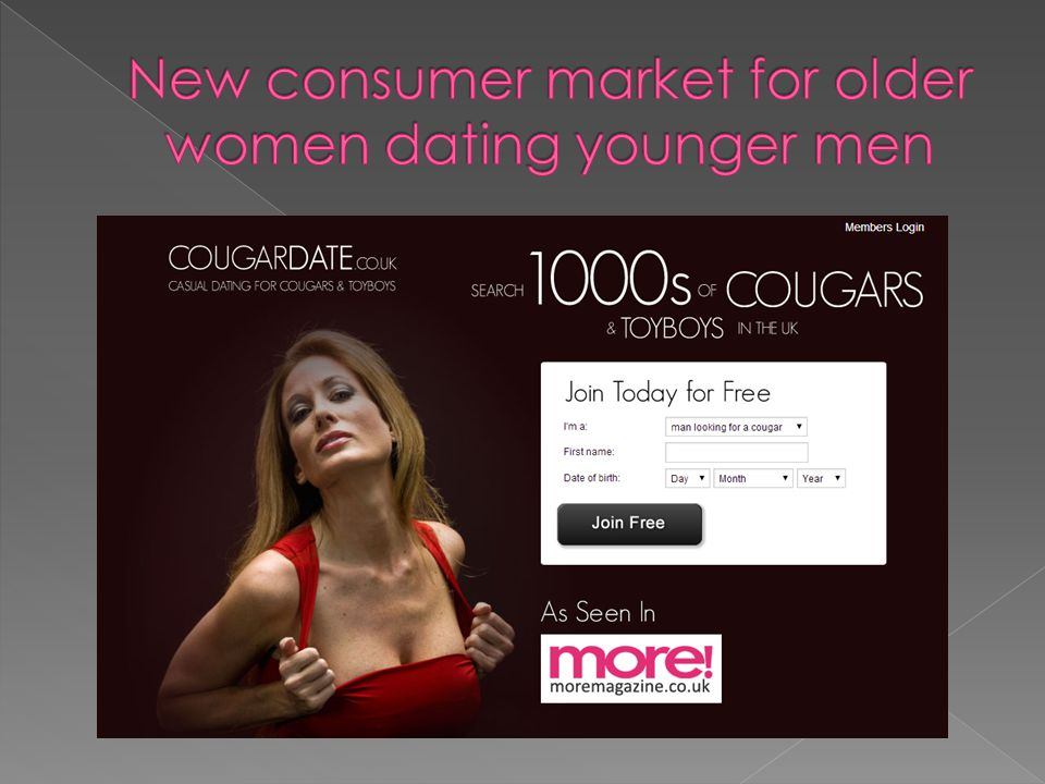 New consumer market for older women dating younger men