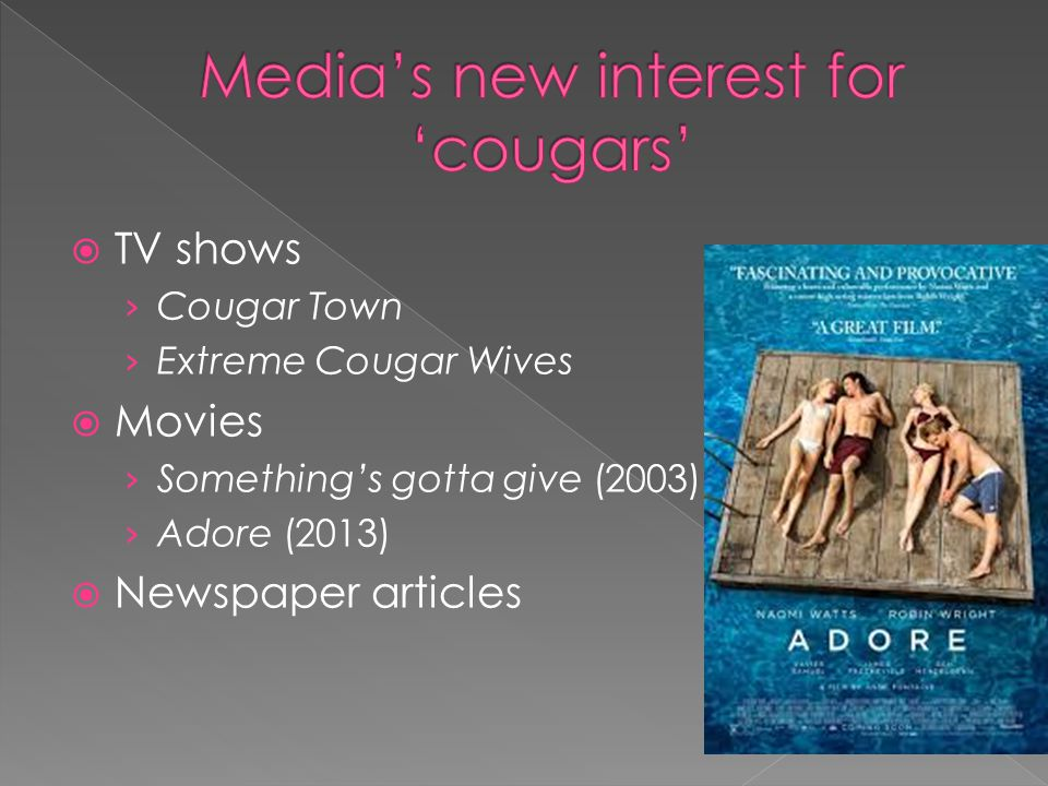 Media's new interest for 'cougars'