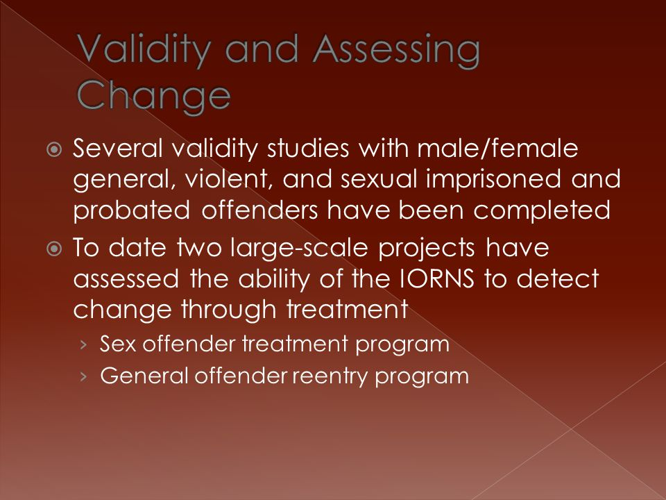 Validity and Assessing Change