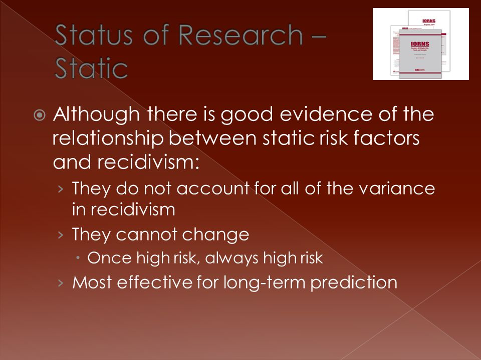 Status of Research – Static