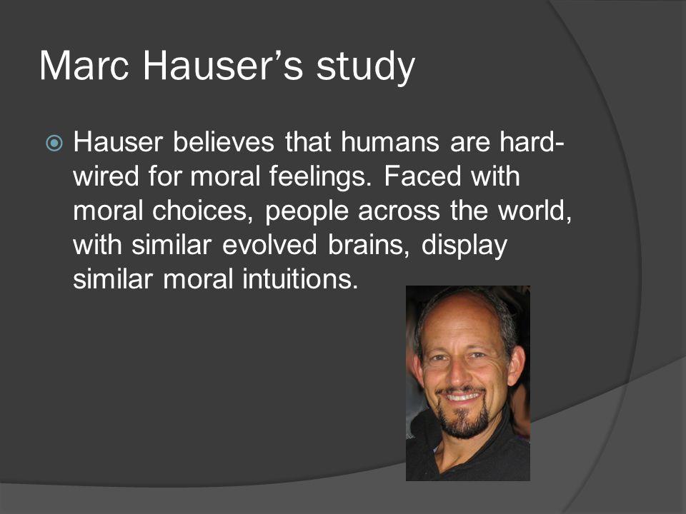 Marc Hauser's study