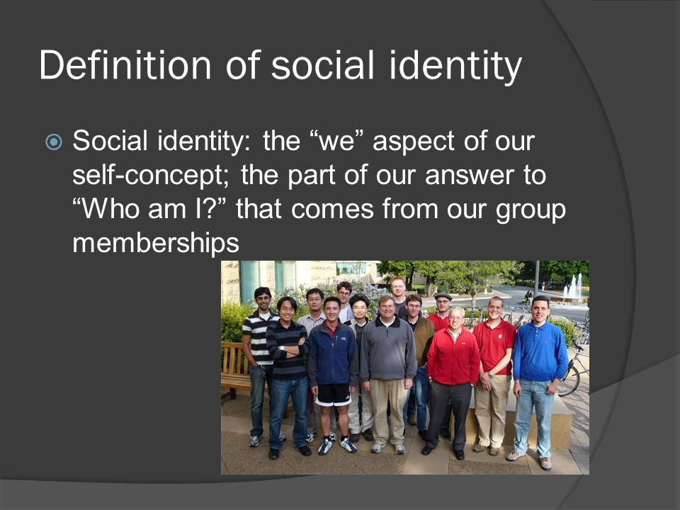 Definition of social identity