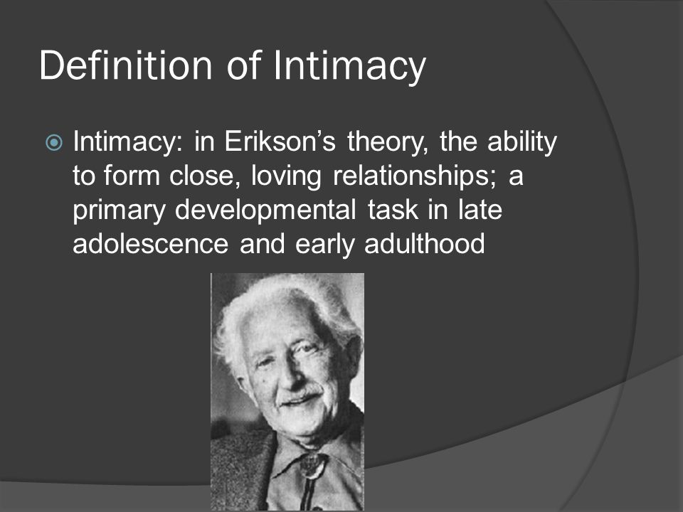 Definition of Intimacy