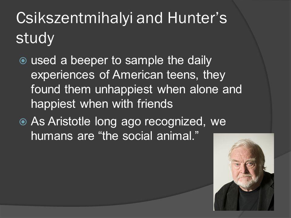 Csikszentmihalyi and Hunter's study