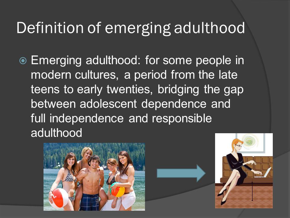 Definition of emerging adulthood