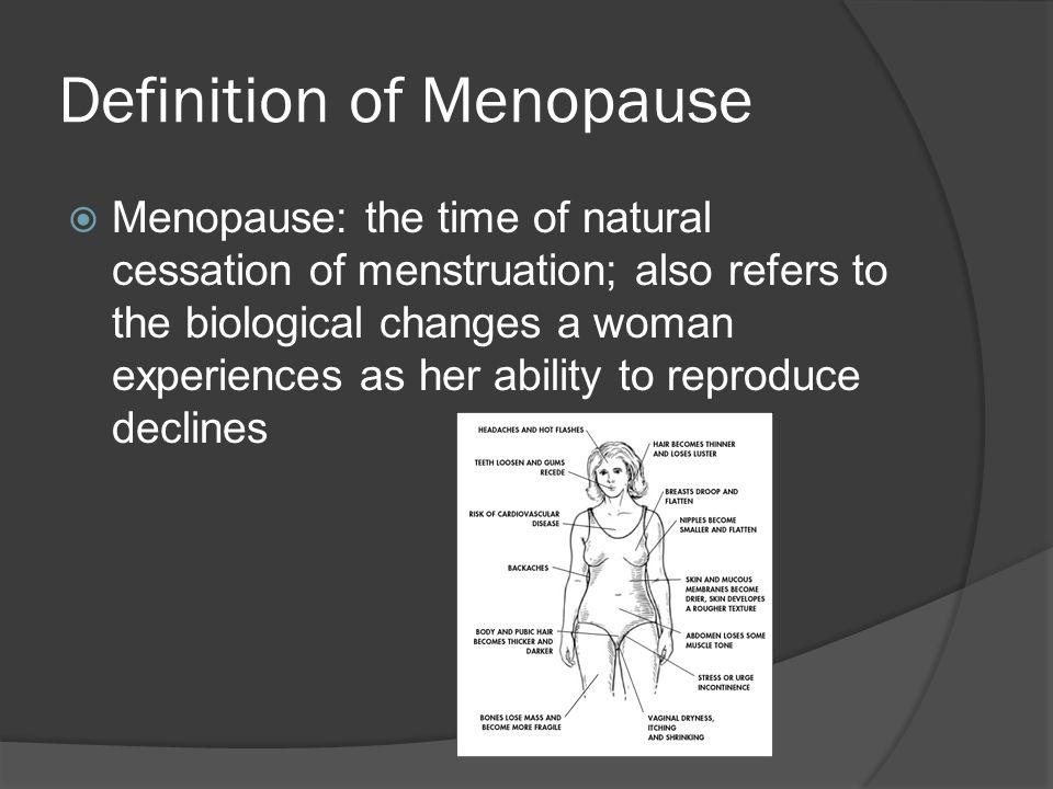 Definition of Menopause