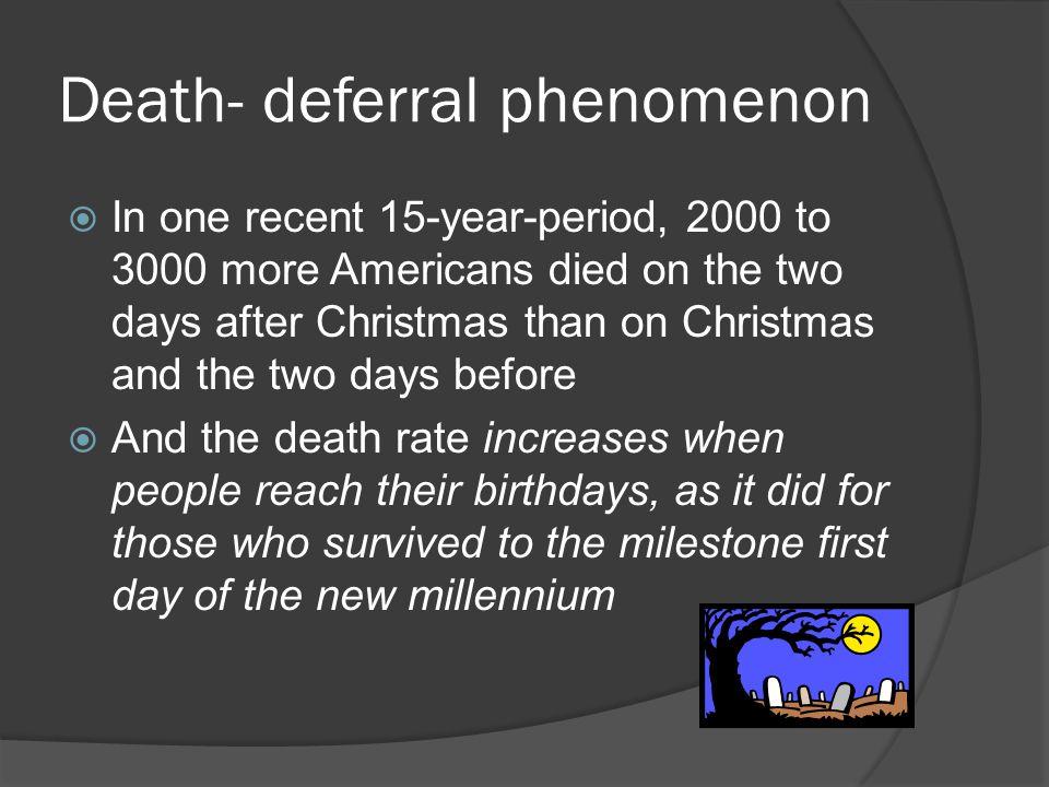Death- deferral phenomenon