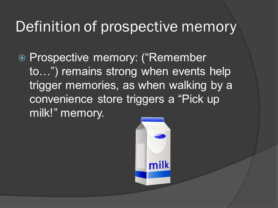 Definition of prospective memory