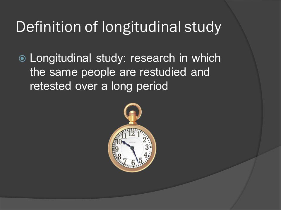 Definition of longitudinal study