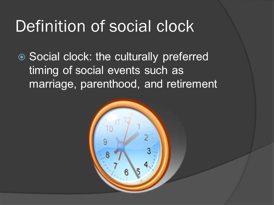 Definition of social clock