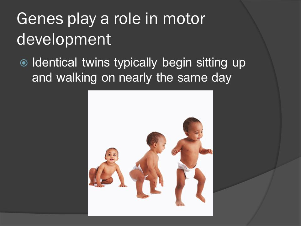Genes play a role in motor development