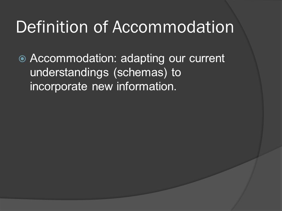 Definition of Accommodation