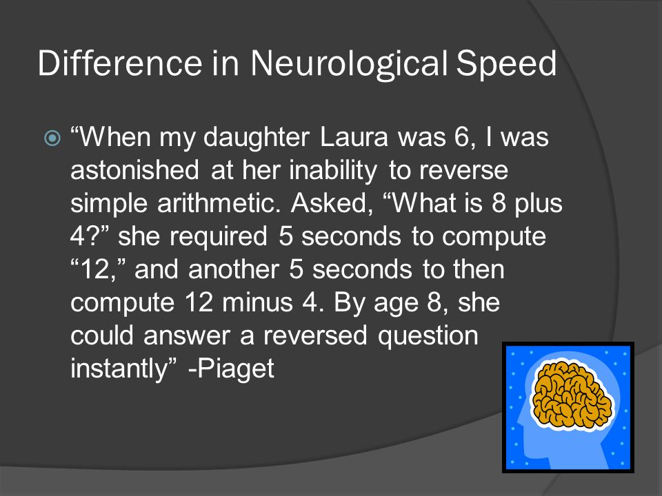 Difference in Neurological Speed