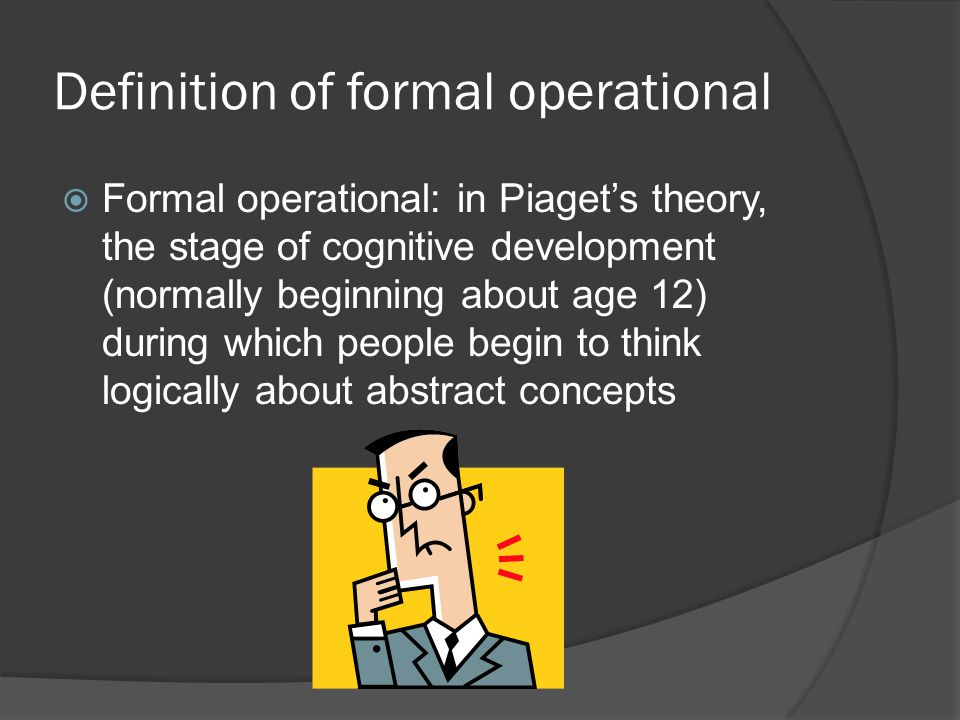 Definition of formal operational