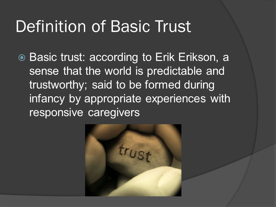 Definition of Basic Trust