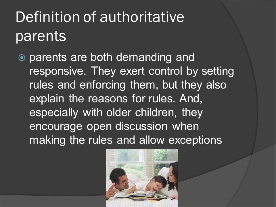 Definition of authoritative parents