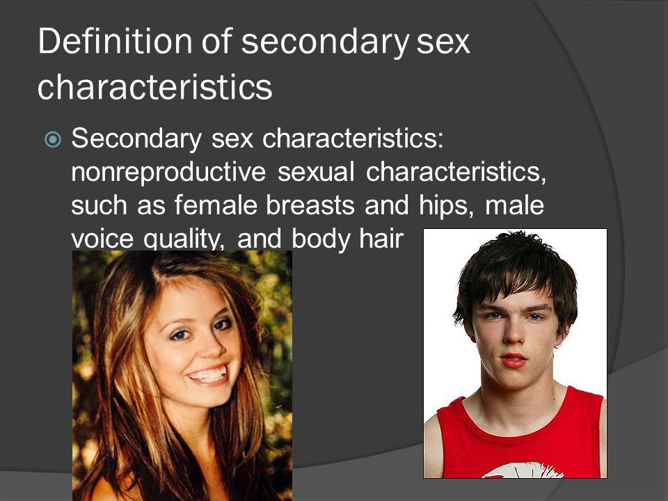 Definition of secondary sex characteristics