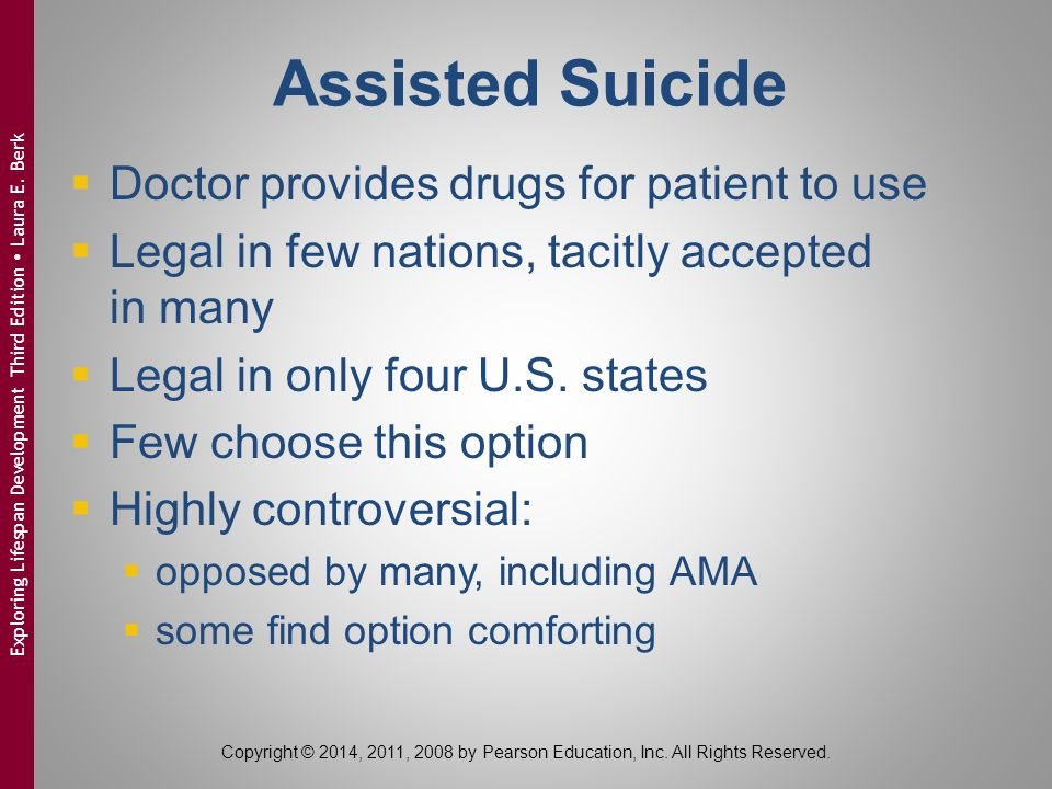 Assisted Suicide Doctor provides drugs for patient to use