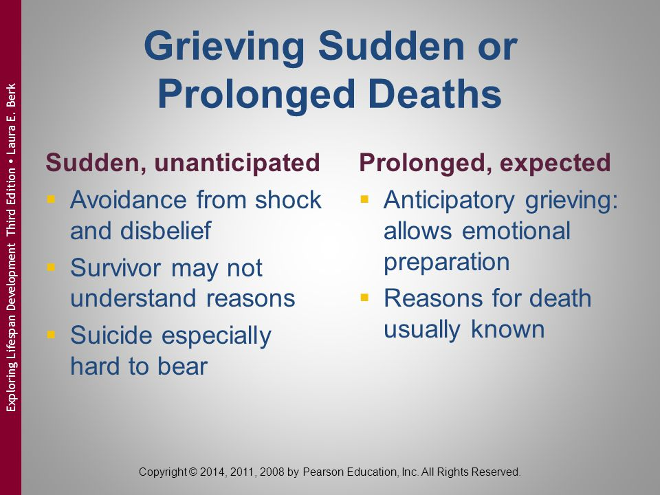 Grieving Sudden or Prolonged Deaths