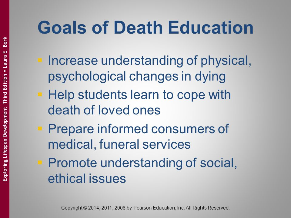 Goals of Death Education