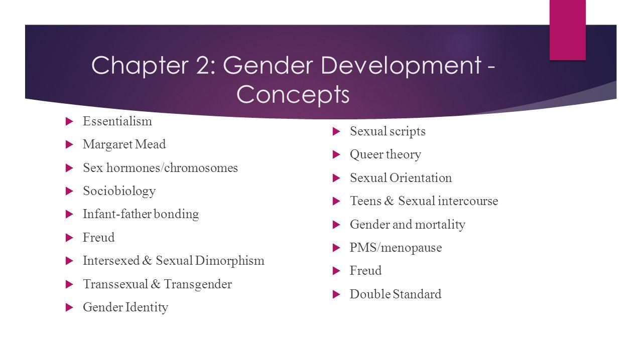 Chapter 2: Gender Development - Concepts