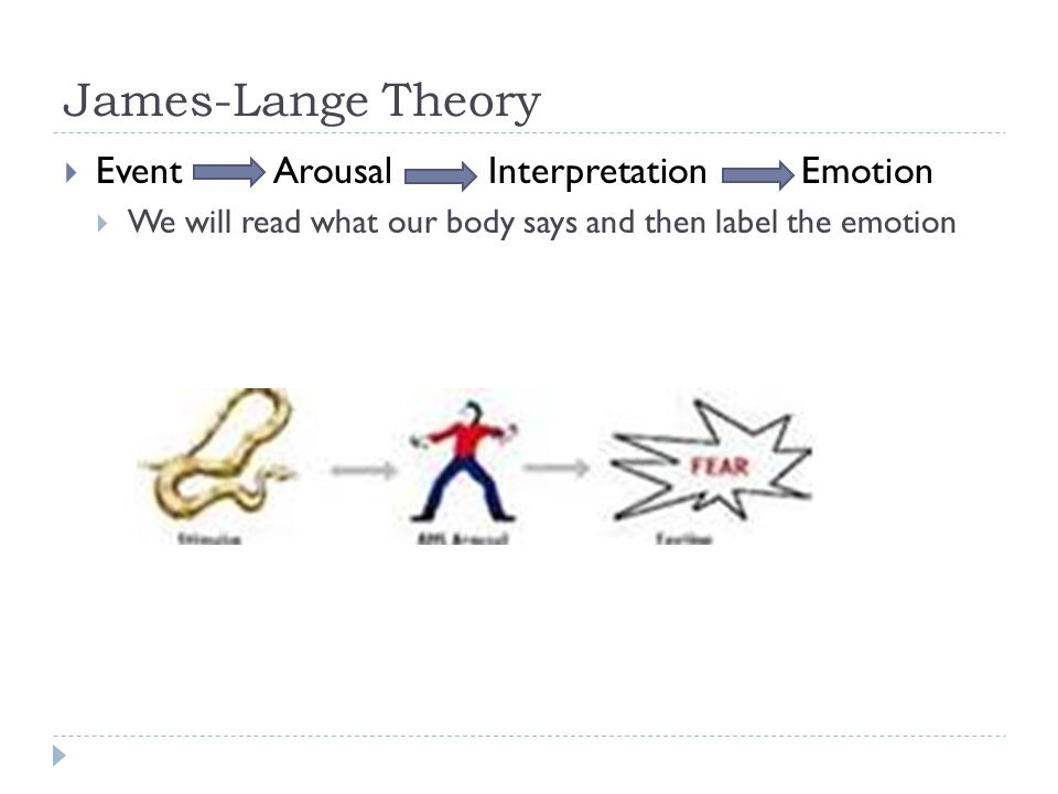 James-Lange Theory Event Arousal Interpretation Emotion