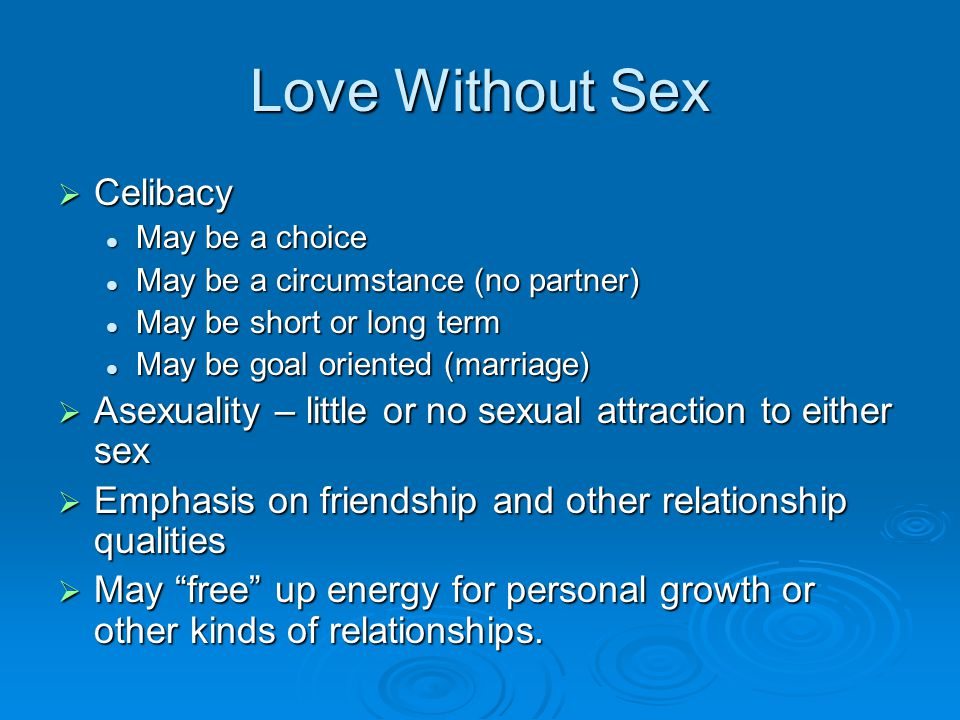 on and off relationship marriage without sex