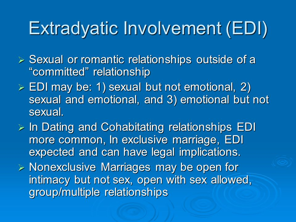 Extradyatic Involvement (EDI)