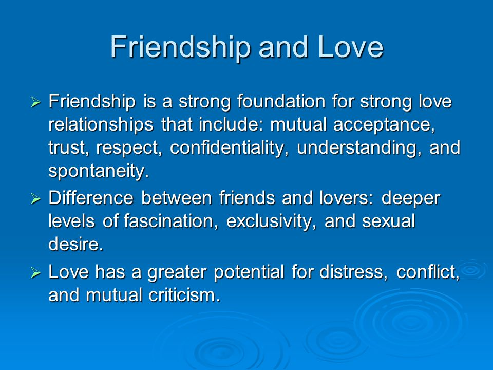 difference between friendship and relationship love video