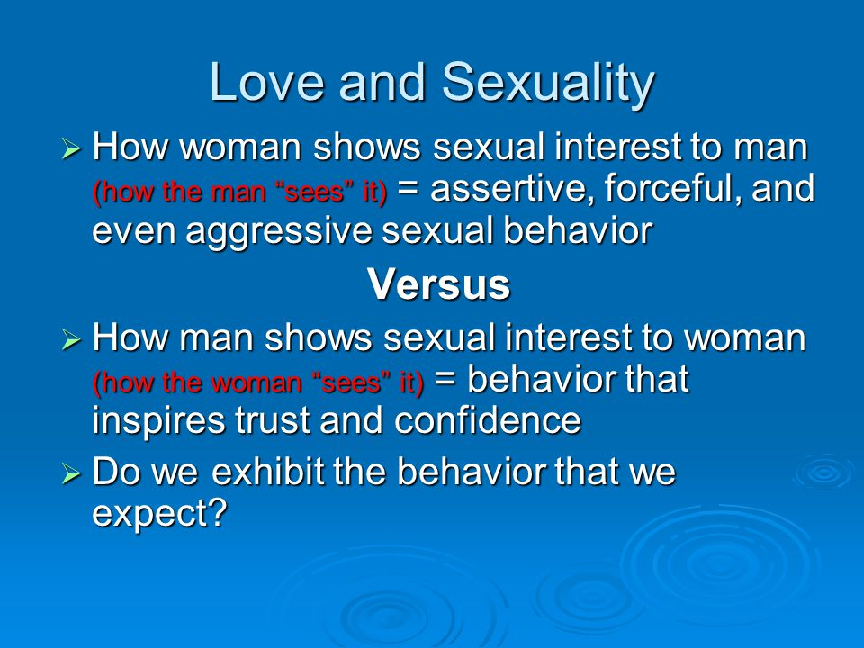 Love and Sexuality Versus