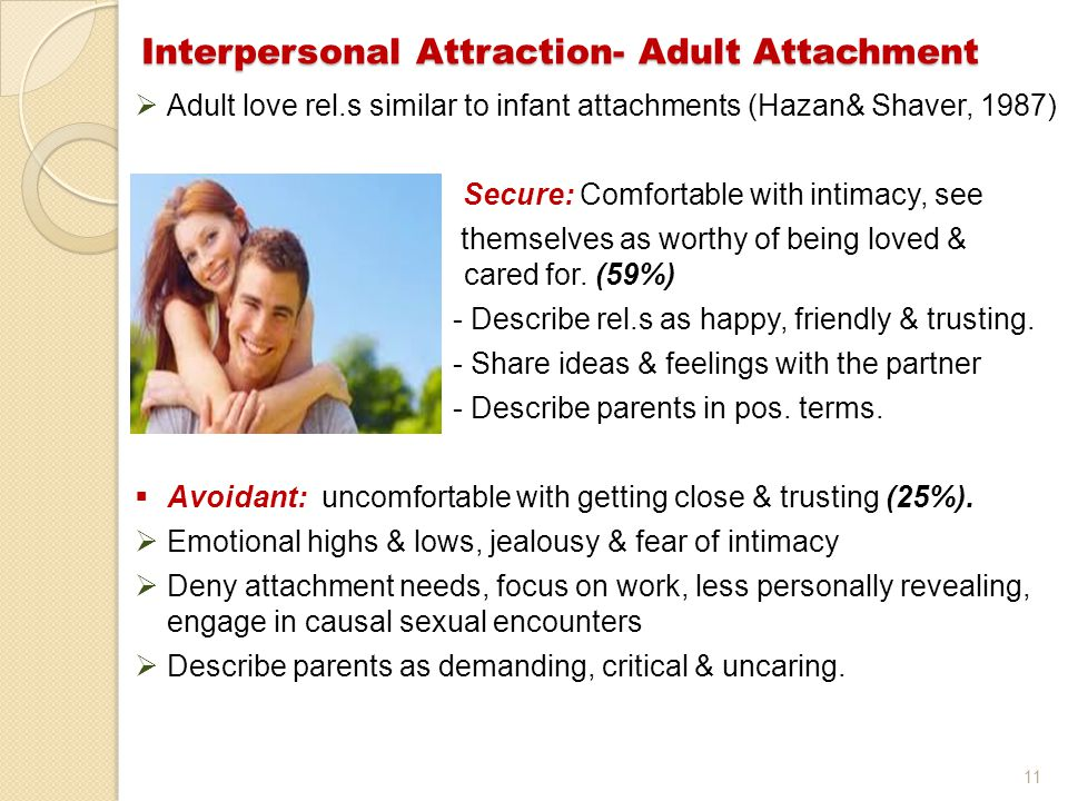 Interpersonal Attraction- Adult Attachment