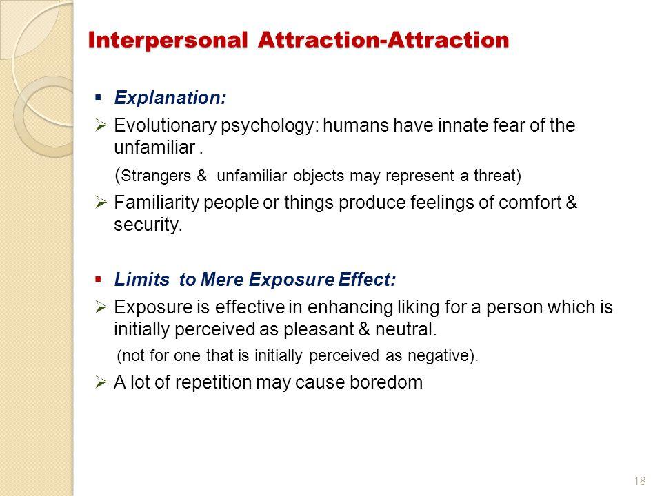 Interpersonal Attraction-Attraction