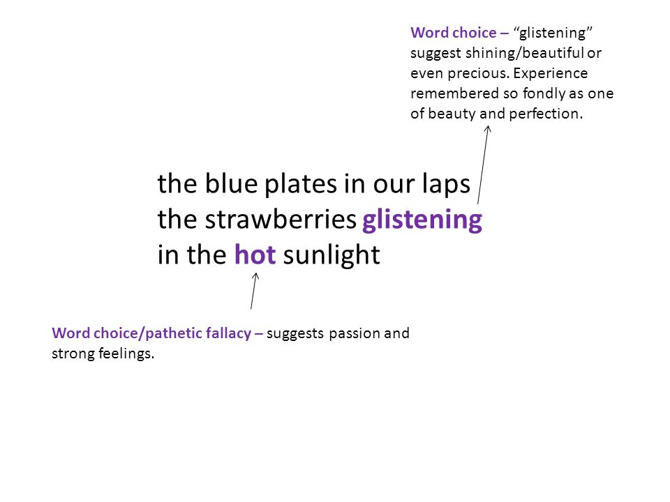the blue plates in our laps the strawberries glistening