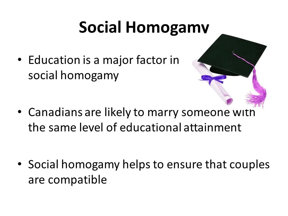 Social Homogamy Education is a major factor in social homogamy