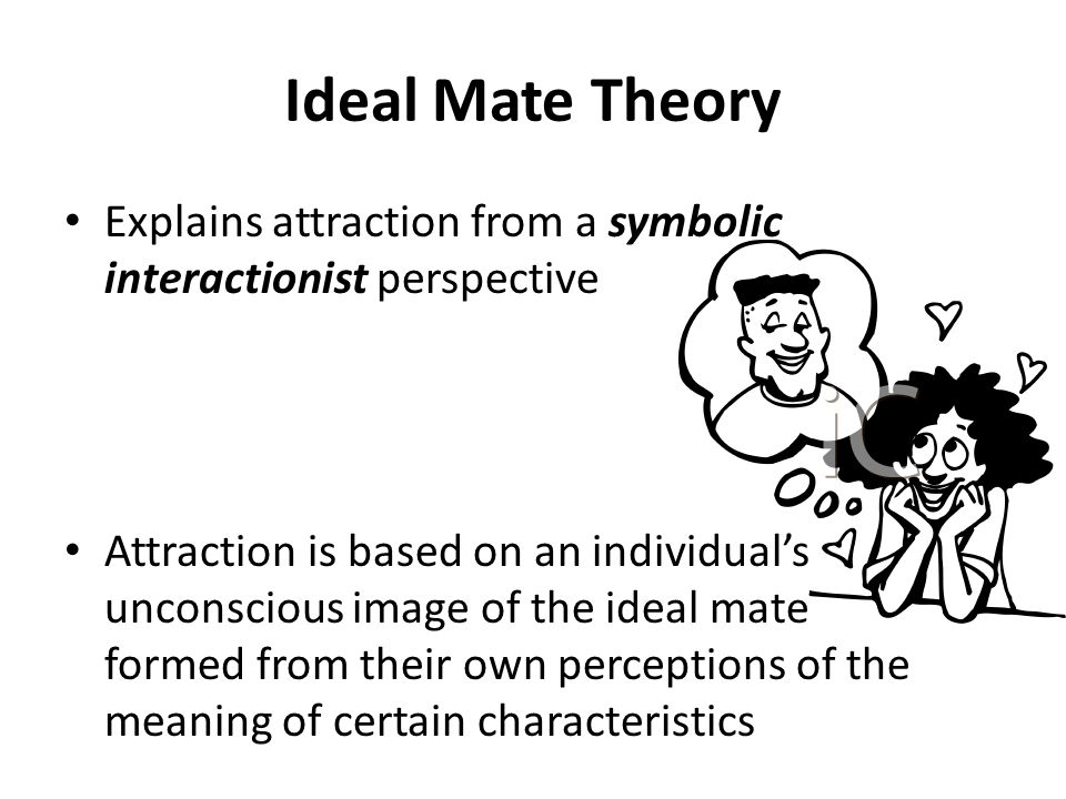 Ideal Mate Theory Explains attraction from a symbolic interactionist perspective.