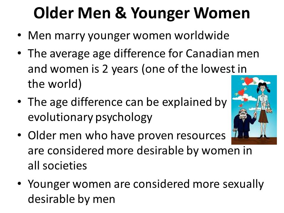 Older Men & Younger Women